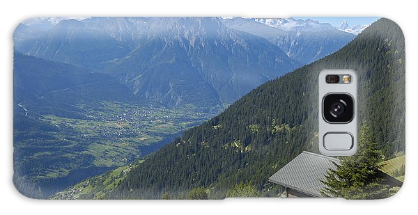 Beautiful View From Riederalp - Swiss Alps Galaxy Case