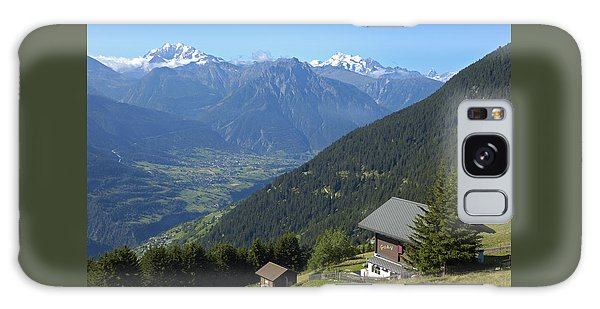 Beautiful View From Riederalp - Swiss Alps Galaxy Case by Matthias Hauser