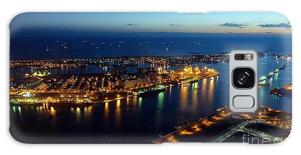 Beautiful View Of Kaohsiung Port At Evening Time Galaxy Case