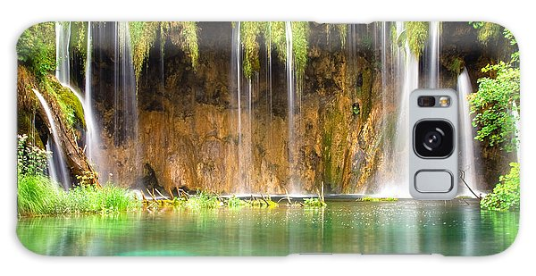 Waterfall Lagoon - Nature Photography Galaxy Case