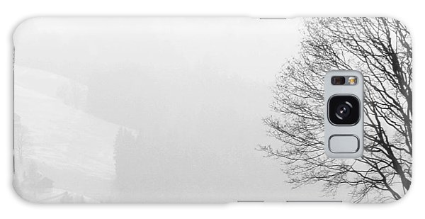 Landscapes Galaxy Case - Beautiful Winter Landscape With Tree And Fence by Matthias Hauser