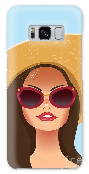 1950s Galaxy Case - Beautiful Young Woman With Sunglasses by Salvadorova