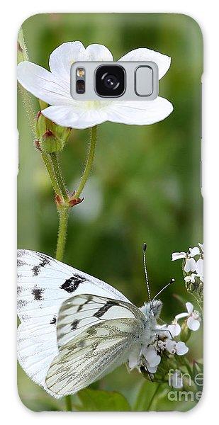 Beauty In White Galaxy Case