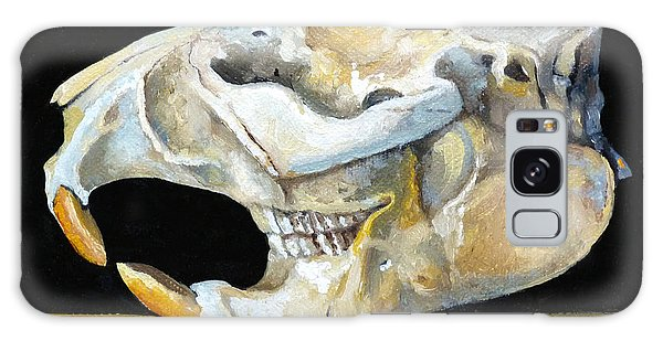 Beaver Skull 1 Galaxy Case by Catherine Twomey
