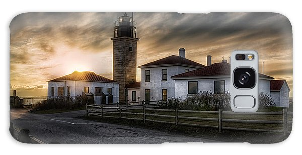 Galaxy Case featuring the photograph Beavertail Lighthouse Sunset by Joan Carroll