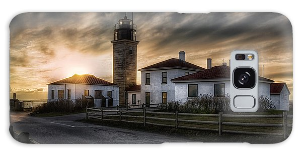 Beavertail Lighthouse Sunset Galaxy Case by Joan Carroll