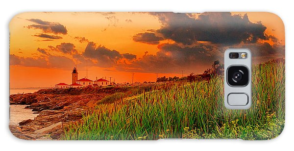 Ocean Sunset Galaxy S8 Case - Beavertail Spectacular- Beavertail State Park Rhode Island by Lourry Legarde