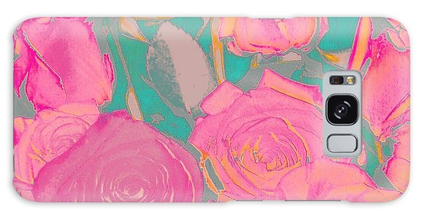 Bed Of Roses I Galaxy Case by Shirley Moravec