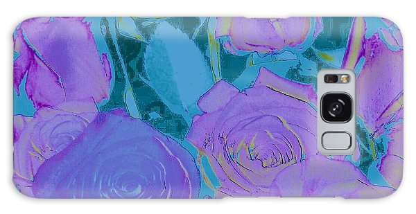 Bed Of Roses II Galaxy Case by Shirley Moravec