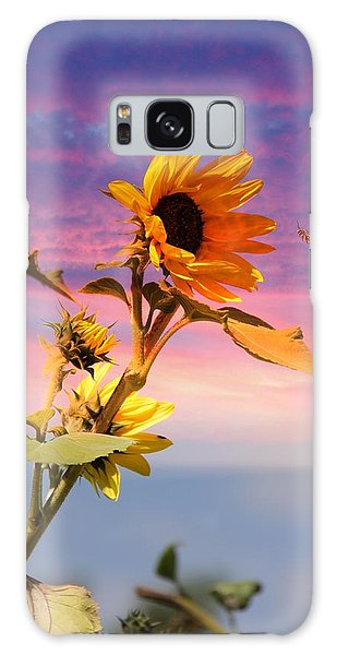 Bee A Sunflower Galaxy Case by Aaron Berg