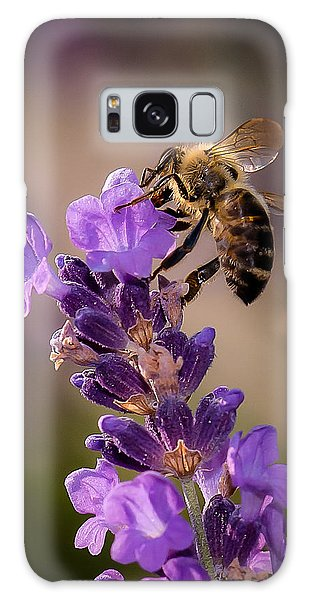 Honeybee Working Lavender Galaxy Case