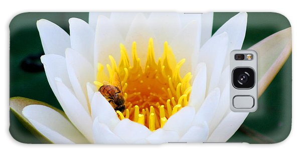 Bee In A Lily  Galaxy Case
