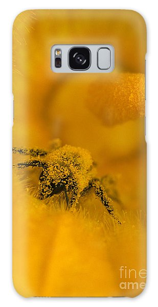 Bee In Pollen Galaxy Case by Chris Scroggins