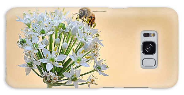 Bee In The Garlic Chives Galaxy Case