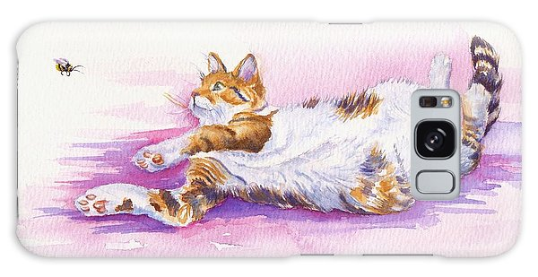 Calico Cat Galaxy Case - Bee Laid Back by Debra Hall