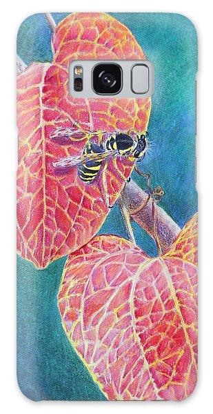 Bee On Leaf Galaxy Case by Mariarosa Rockefeller