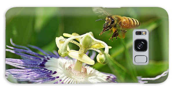 Bee On Passionflower Galaxy Case