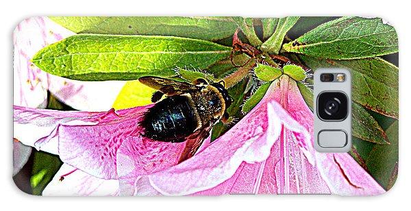 Bee On  Pink Azalea Galaxy Case