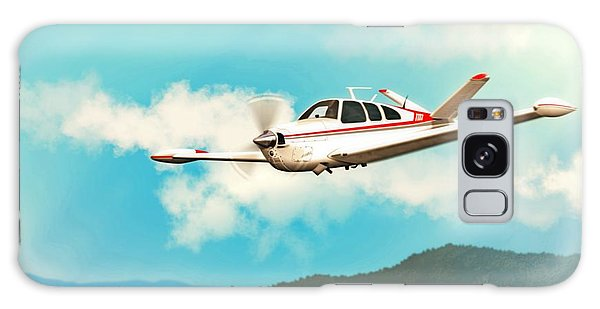 Beechcraft Bonanza V Tail Red Galaxy Case