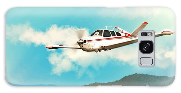 Beechcraft Bonanza V Tail Red Galaxy Case