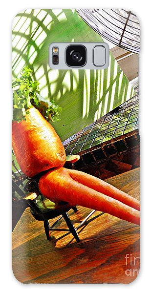 Beer Belly Carrot On A Hot Day Galaxy Case