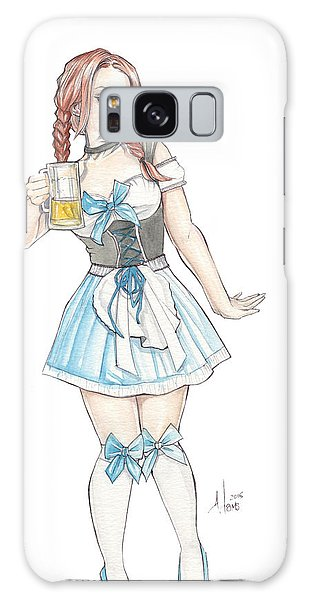 Beer Girl Galaxy Case