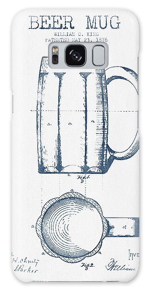Bar Galaxy Case - Beer Mug Patent From 1876 -  Blue Ink by Aged Pixel