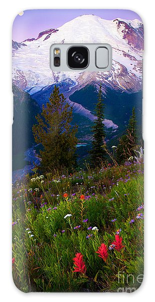 White Mountain National Forest Galaxy Case - Before Dawn At Mount Rainier by Inge Johnsson