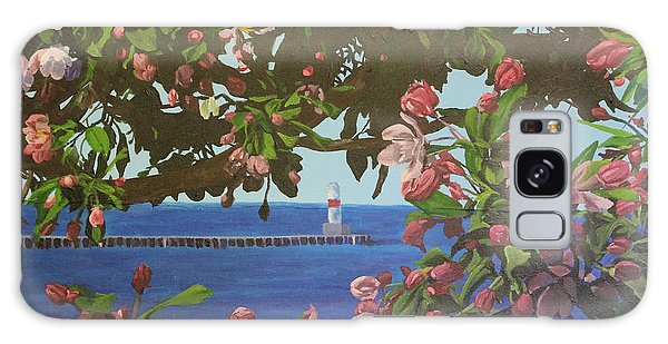 Beginnings Of Summer At The Waterfront Galaxy Case by Wendy Shoults