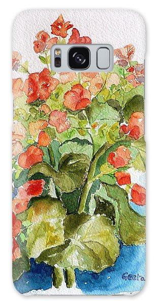 Begonias Still Life Galaxy Case by Geeta Biswas