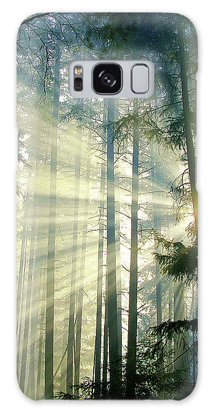 Behold The Light In The Fall Forest Galaxy Case