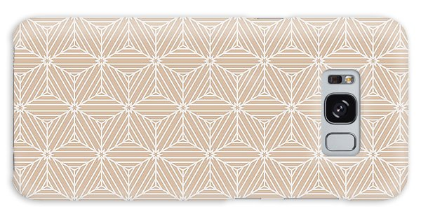 Angle Galaxy Case - Beige Color Seamless Texture Of Cubes by Mademoiselle De Erotic