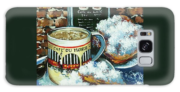 Beignets And Cafe Au Lait Galaxy Case by Dianne Parks