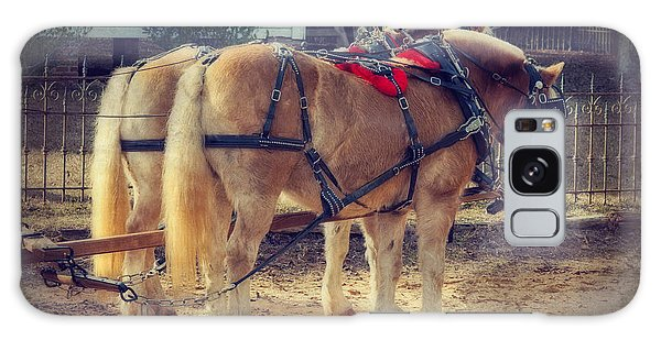 Belgium Draft Horses Galaxy Case