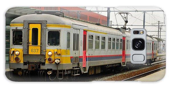 Belgium Railways Commuter Train At Brugge Railway Station Galaxy Case