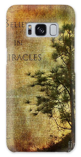Believe In Miracles - With Text Galaxy Case by Claudia Ellis