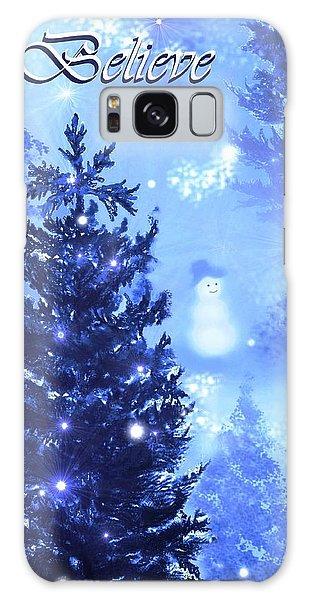 Believe In The Snowman Galaxy Case