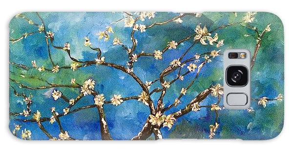 Belinda's Almond Blossoms Galaxy Case by Belinda Low