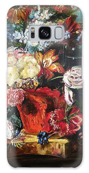 Life Is A Bouquet Of Flowers  Galaxy Case by Belinda Low