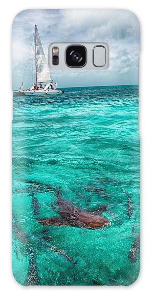 Belize Turquoise Shark N Sail  Galaxy Case