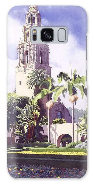Bell Tower In Balboa Park Galaxy Case