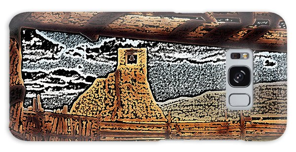 Bell Tower Ruins At Taos Pueblo Galaxy Case by Kathleen Stephens