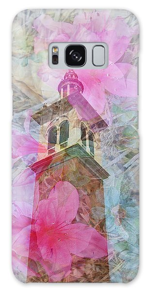 Bell Tower Wrapped In Spring Galaxy Case