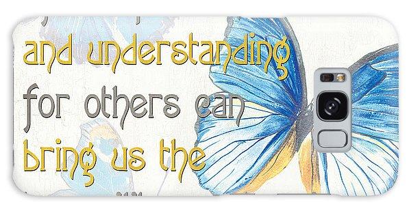 Bella Butterflies 1 Galaxy Case by Debbie DeWitt