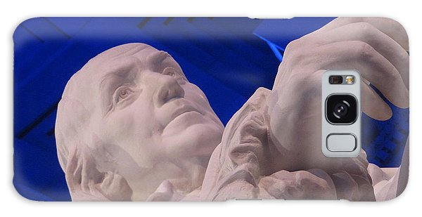 Ben Franklin In Blue I Galaxy Case by Richard Reeve