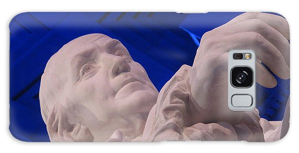 Ben Franklin In Blue I Galaxy Case by Richard Reeve