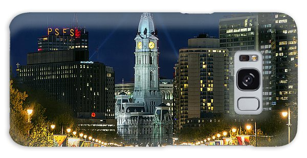 Ben Franklin Parkway And City Hall Galaxy Case