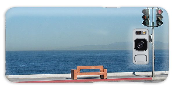 Bench By The Sea Galaxy Case