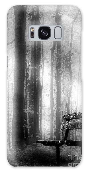 Bench In Michigan Woods Galaxy Case