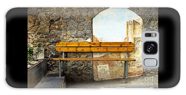 Bench In Riomaggiore Galaxy Case